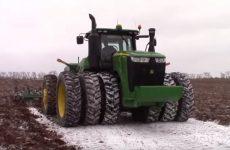 labours dans la neige